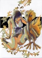Tifa and Chocobo by tew-tew