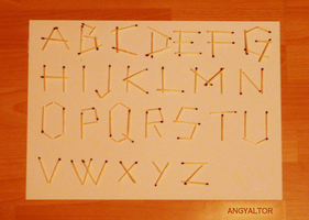 Homamade alphabet matches by angyaltor