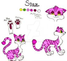Spaz character ref. Sheet by sapphire-blackrose