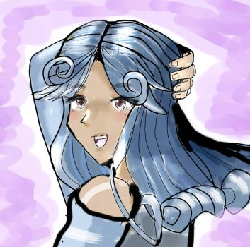 Point Commision : Blue Haired Girl by neiger