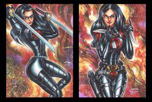 BARONESS PERSONAL SKETCH CARD SET B by AHochrein2010
