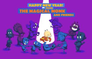 A Happy New Year from The Magical Monk and Friends by White88888888