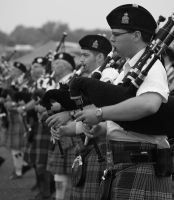 army of bagpipers by moonshadow76