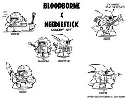 Bloodborne and Needlestick Concept Art by Dungeonhordes