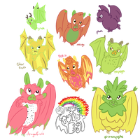 Fruit Bats 2 by SpatialHeather