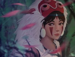 Princess Mononoke by Avnil