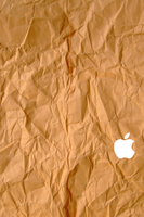 iPhone 4S Paper Wallpaper White Logo by SimpleWallpapers