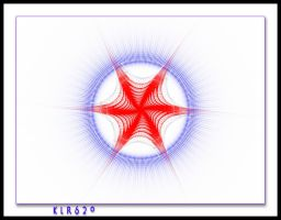Red White and Blue Star by KLR620