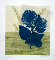 Floral Monotype 6 of 6 by designsbykari