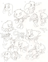 Black Out Chao Doodles by SuperSparks