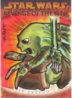 Kit Fisto Sketch Card by artyewok