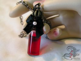 Royal Blood Vial Necklace by GenIshihara