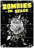 Zombies In Space Poster by ayillustrations