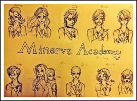 Minerva Academy Student Sketches by SilvianArt