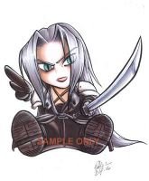 Chibi Sephiroth sticker design by Bee-chan