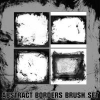 Abstract borders brush set by Cevkarade