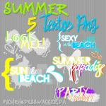 Summer Textos PNG by MichRhodesSwagger