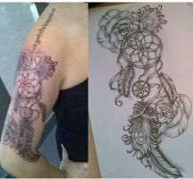 Dreamcatcher tattoo (attrappe reve) by tattoosuzette