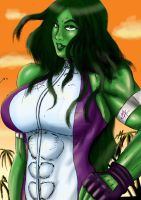 She-Hulk in La by sweetchorizo