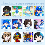 2014's Summary of Art by irenereru