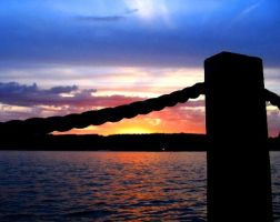 Summer Sunset on Lake CDA 2 by BRANCY