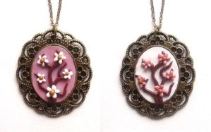 Cherry blossom trees cameos by curry-brocoli