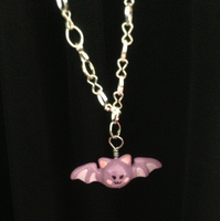 Chibi Bat Necklace by Jellyfish-Soup
