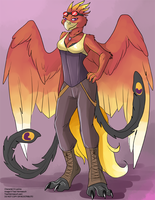 [Blind Character Design] Steampunk Phoenix by Ulario