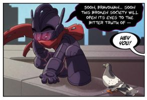 Bravoman Panel 1 strip 7 by D-Gee