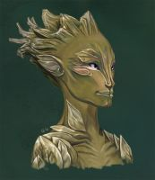 Sylvari Portrait by Stinyzilla