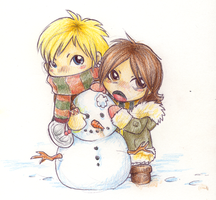 Kyo n' Kao -snow fun- by darkoctober
