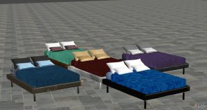 Set of the Sims 3 beds by Sereda-Hawke