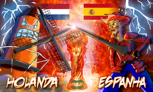 Final - Netherlands vs Spain by mushisan