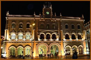 Rossio Train Station Lisbon by Tigles1Artistry