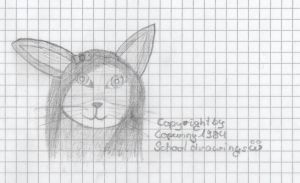 Schooldrawing - Anthro Catgirl by Lopunny1984