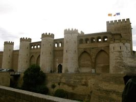 Arabic Castle - Zaragoza, Spain-1 by RowyeStock