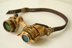 Steampunk goggles 'N-axis' by Gogglerman