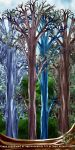 Painted Fantasy Trees by mystikel