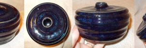 Blue Spacey Ceramic Vessel by chkimbrough