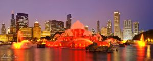 Chicago, Buckingham Fountain by Nightline