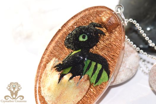 Polymer clay and Resin  Baby Dragon by Crystarbor
