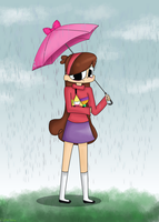 Stroll In The Rain by cipher-pines
