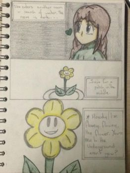Ruby and Emerald in Undertale - 3.A Small Flower by MapleMochi06