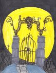 Halloweentown Graveyard Gate by digirobotphantom10