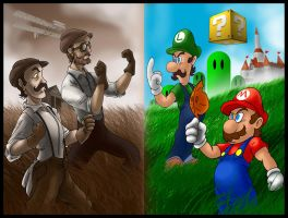 Mario Bros. VS Wright Bros. by SemajZ