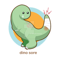 Dino Sore by kimchikawaii