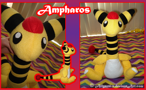 Ampharos Plushie by Allyson-x
