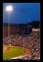Moonrise Behind Home Plate by PhotographyByIsh