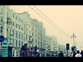 Fog covering Brighton by unitedcba