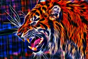 Fractalius Tiger III by megaossa
